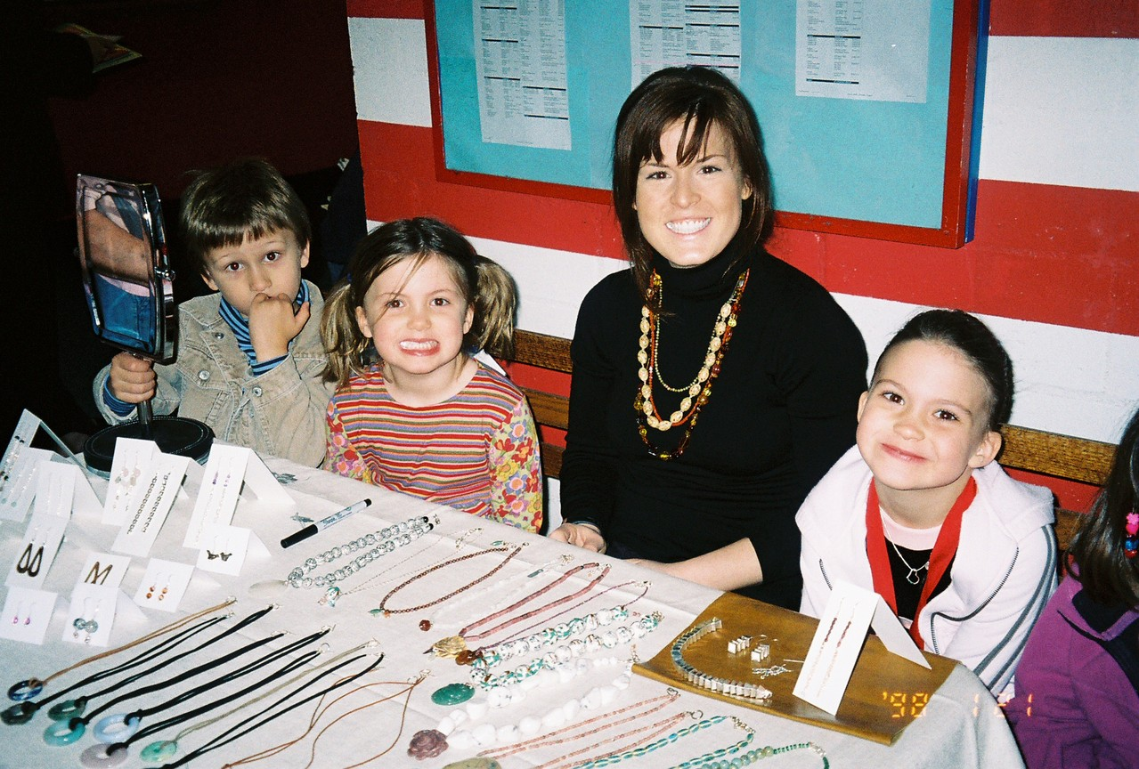 Jack, Kate, Bridie Myles, & Ellie, about 2005 or 2006, Chelsea Piers