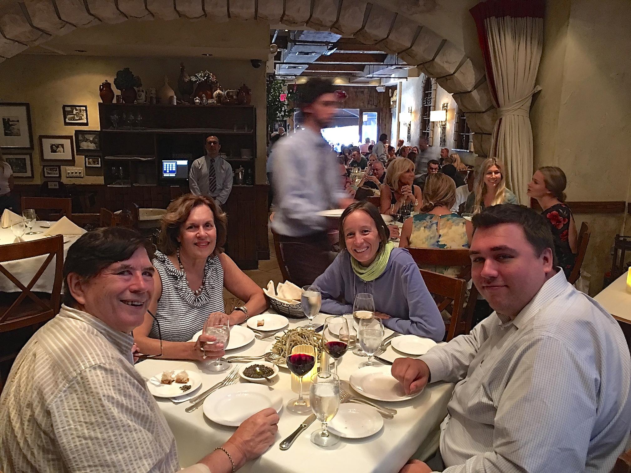 John, Lorraine, Ana, & Greg Wagner at La Masseria