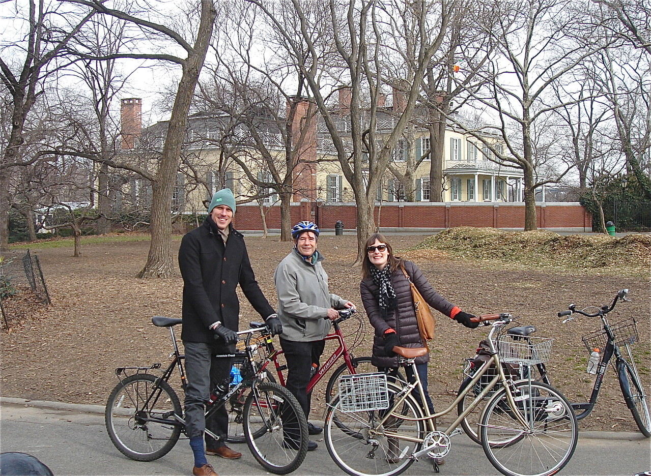In front of Gracie Mansion, Jan. 20, 2013   Patrick, John, & Anna