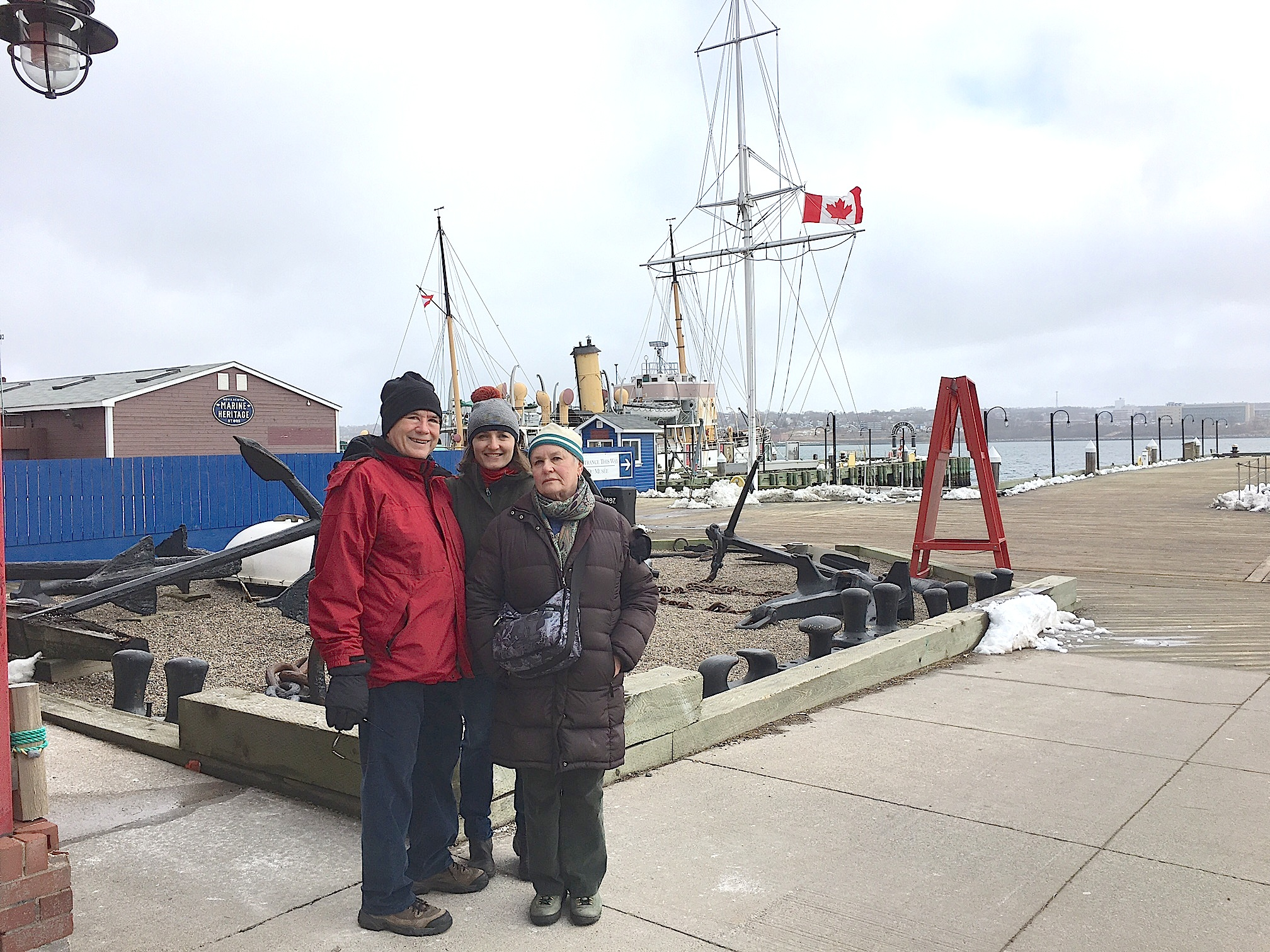 John, Wendy, & Susan on the Halifax waterfront