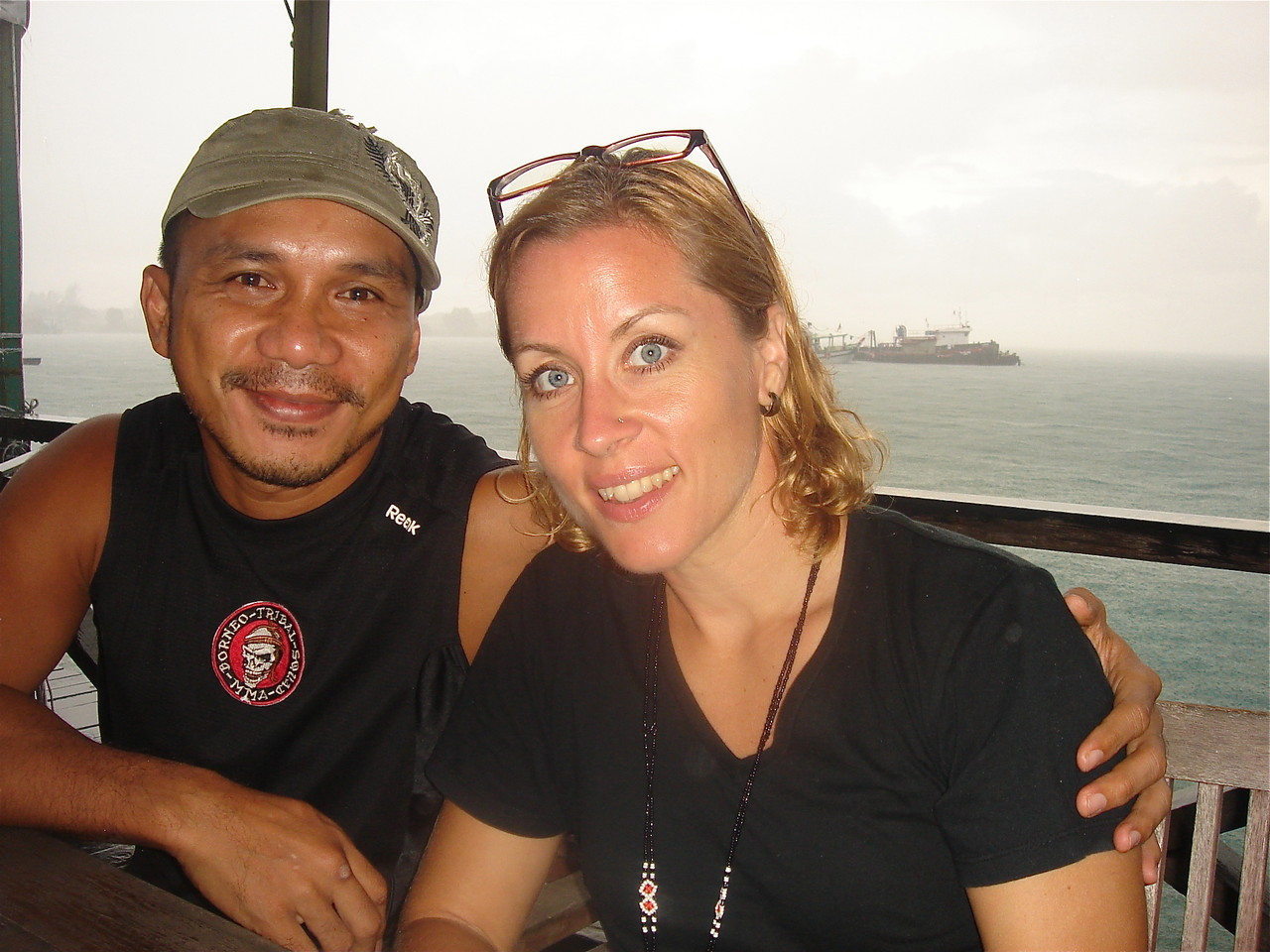 "AJ ""Pyro"" Mansor & Emily Barner on the waterfront, KK"
