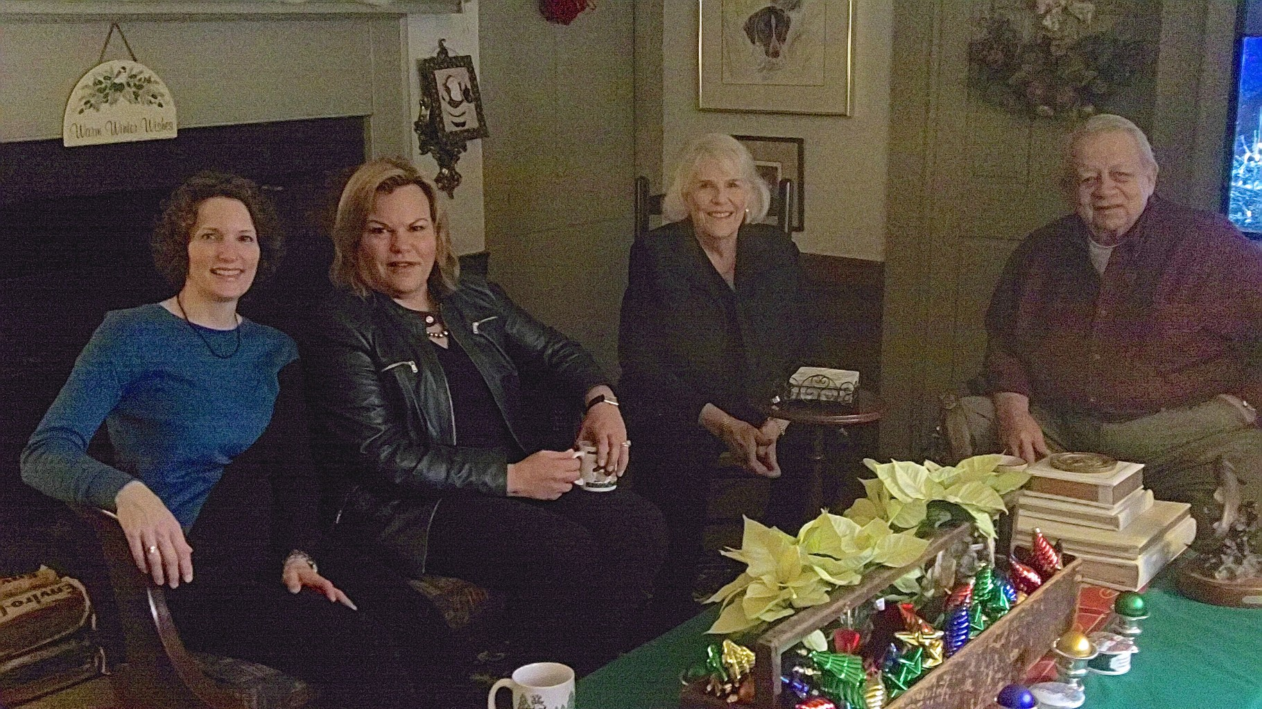 Lisa, Celeste, Jane and Colin Kagel at the inn, Dec. 13, 2015