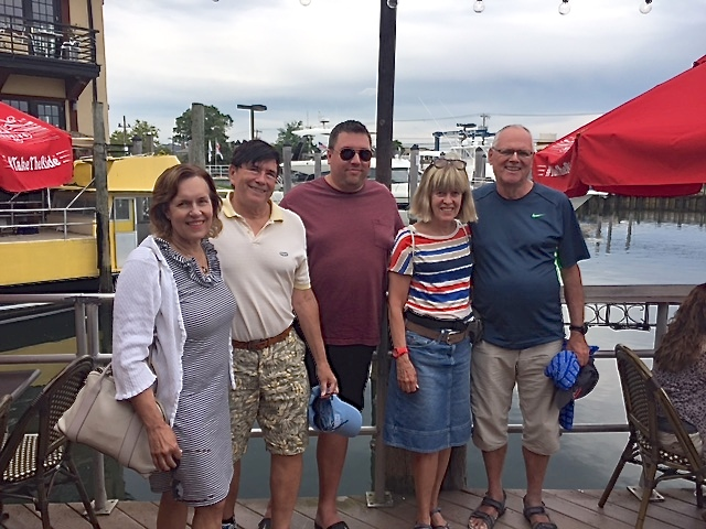 Lorraine Gudas, John, Greg, Nancy, & Bernd at Freeport, LI   8-6-17