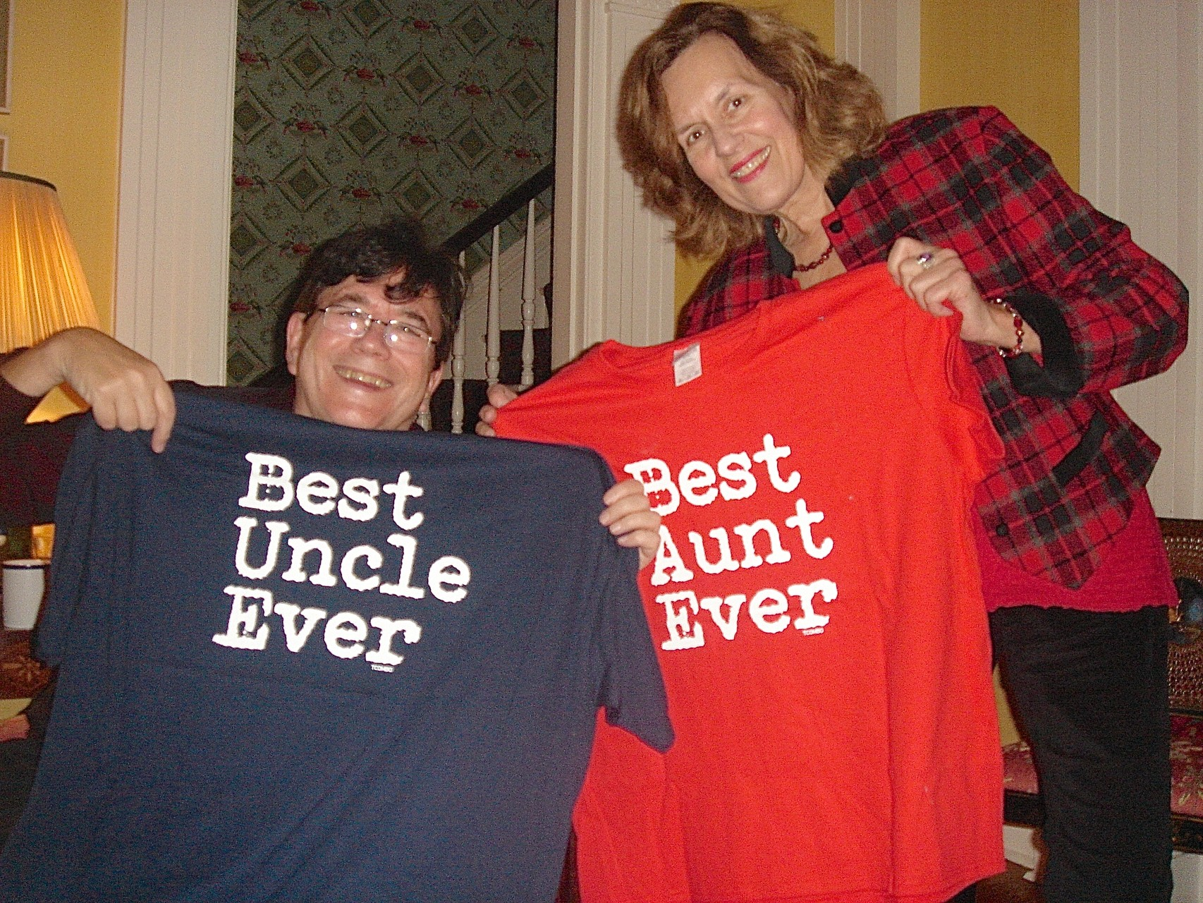 John & Lorraine get their Xmas presents from Jack!