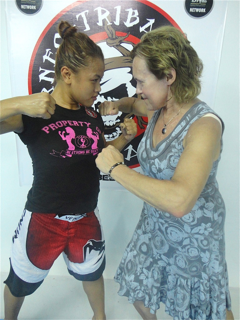 "Ann Osman, the first female pro MMA fighter in Malaysia, ""fights"" Lorraine"