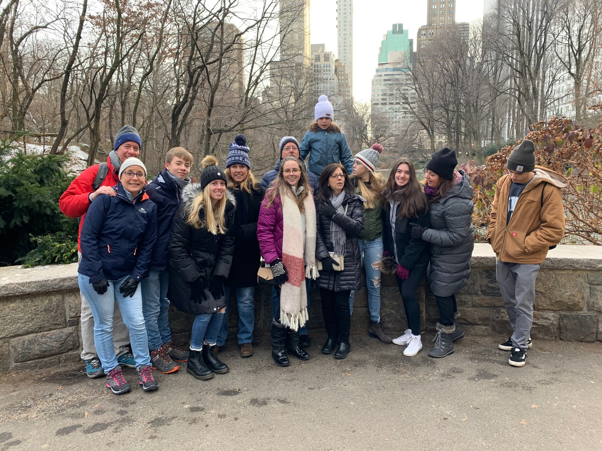 Kathy Gudas Longo & family Dec. 2019, NYC, Central Park