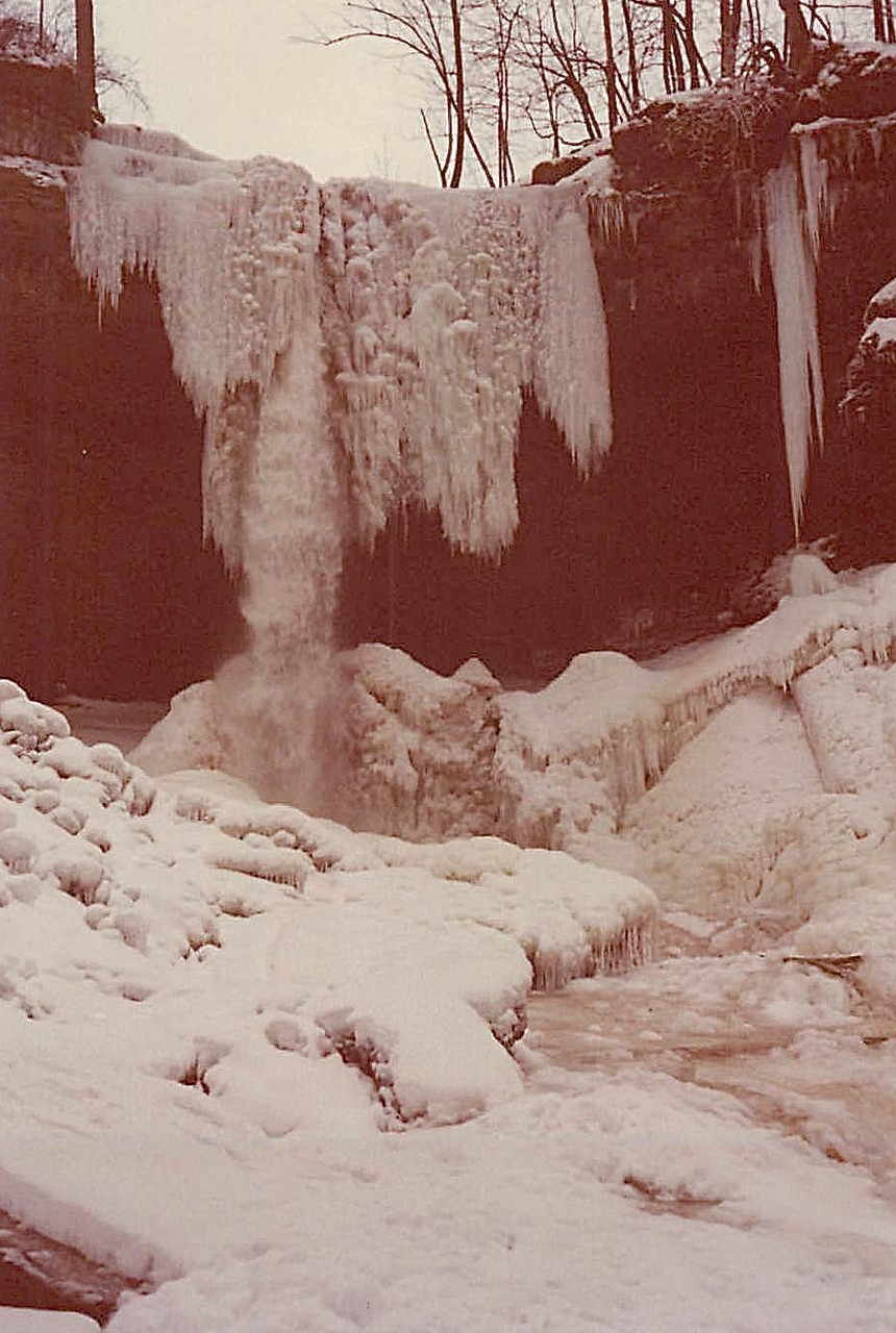 winter, 1977 Carpenter's Falls, Skaneateles Lake