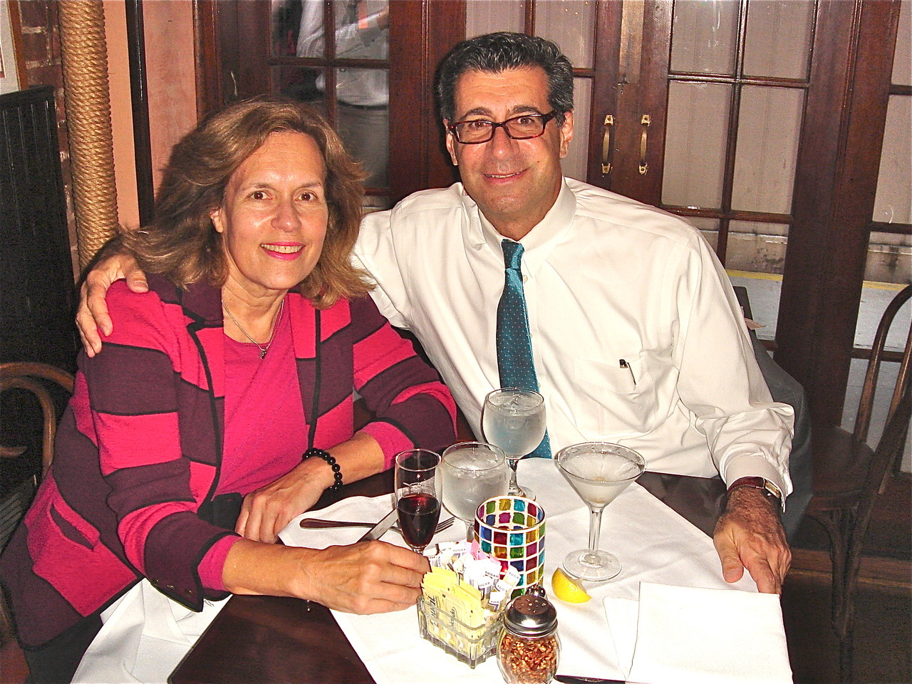 Lorraine Gudas celebrates David Hajjar's birthday with him  Sept 2012