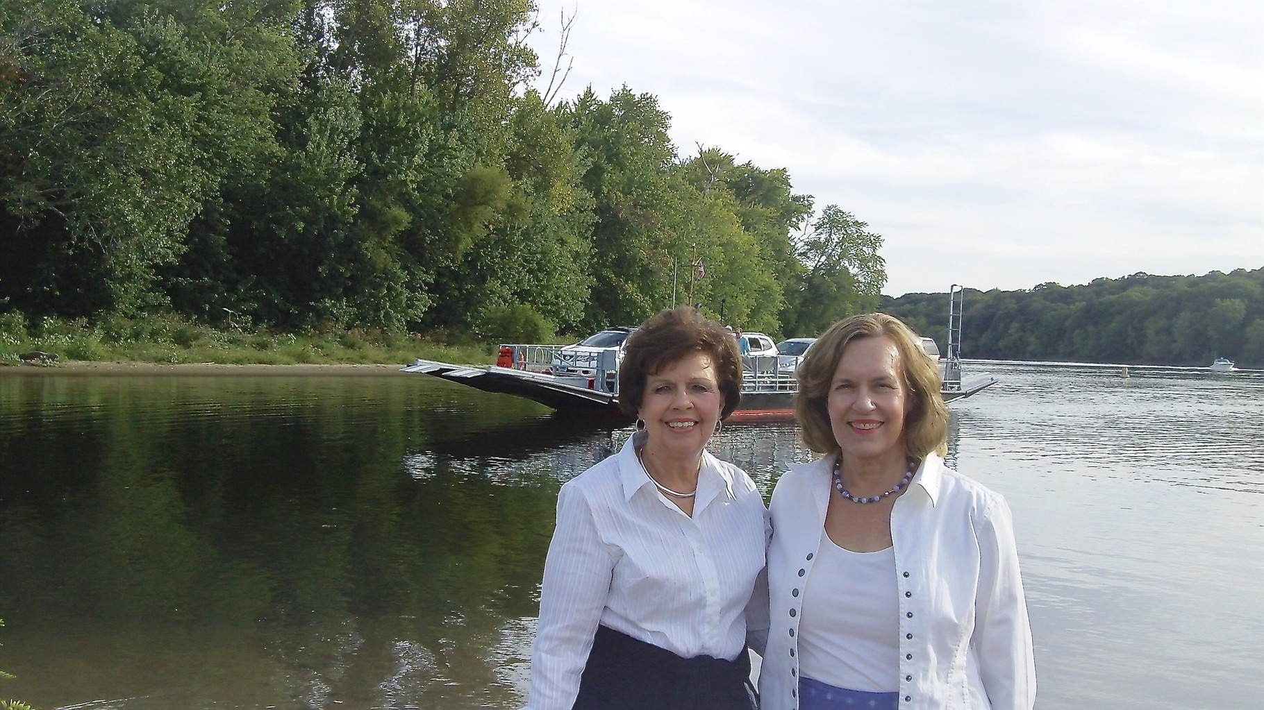 Cousin Kathy & Lorraine, September, 2015 Connecticut River