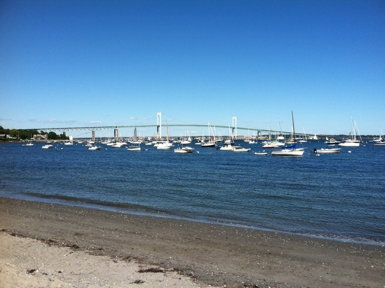 Newport Bridge, Aug. 2013, from Jamestown