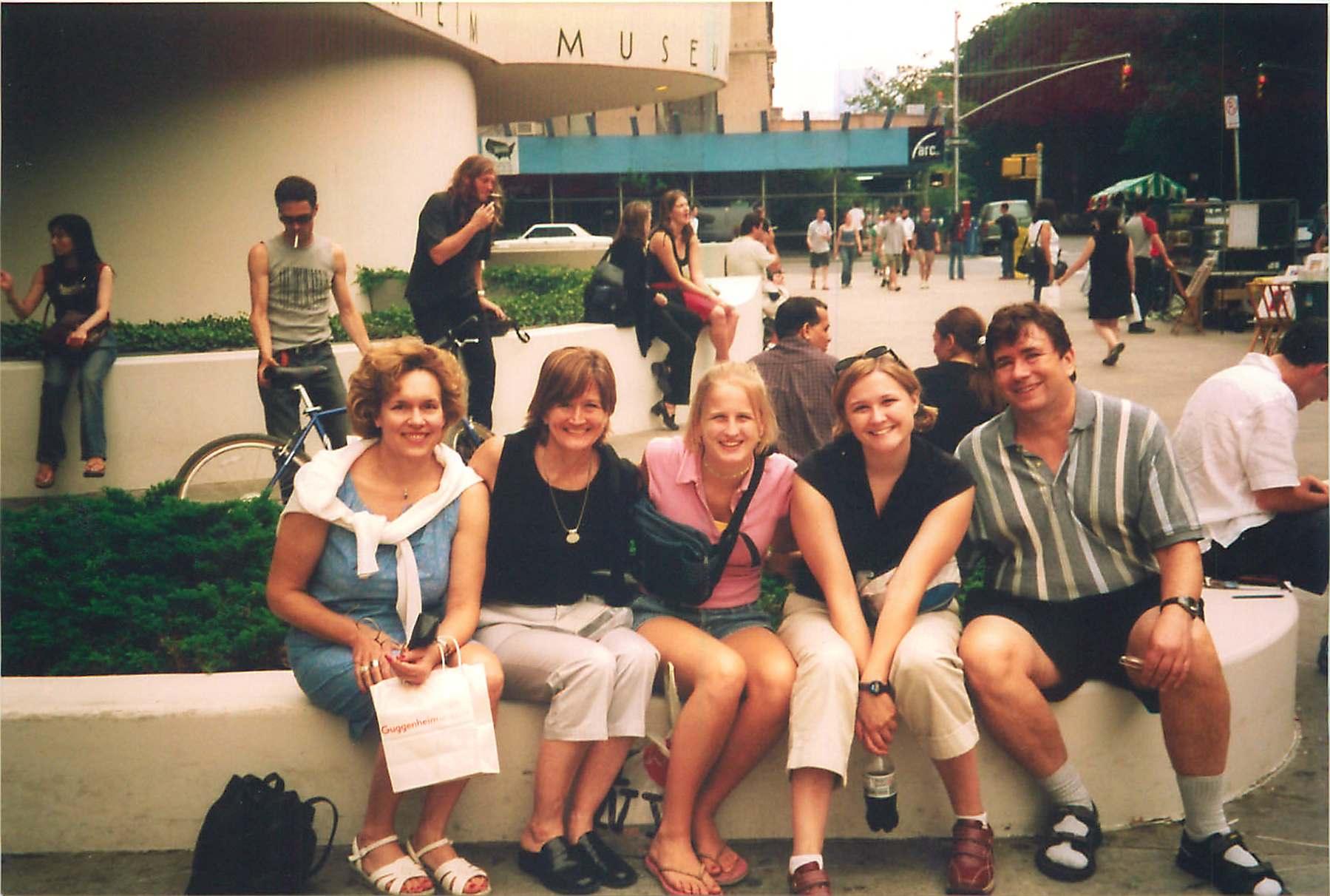 Lorraine, Sally, Sara, Amy & John 2002  NYC