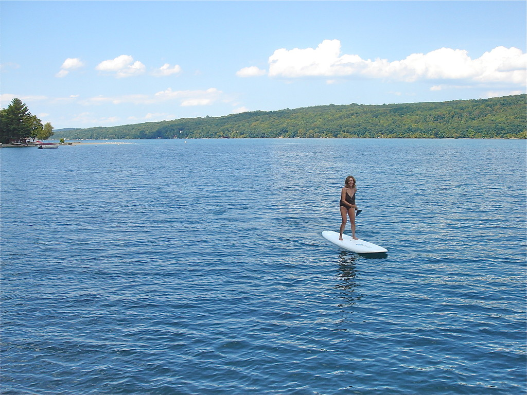 Lorraine paddleboards