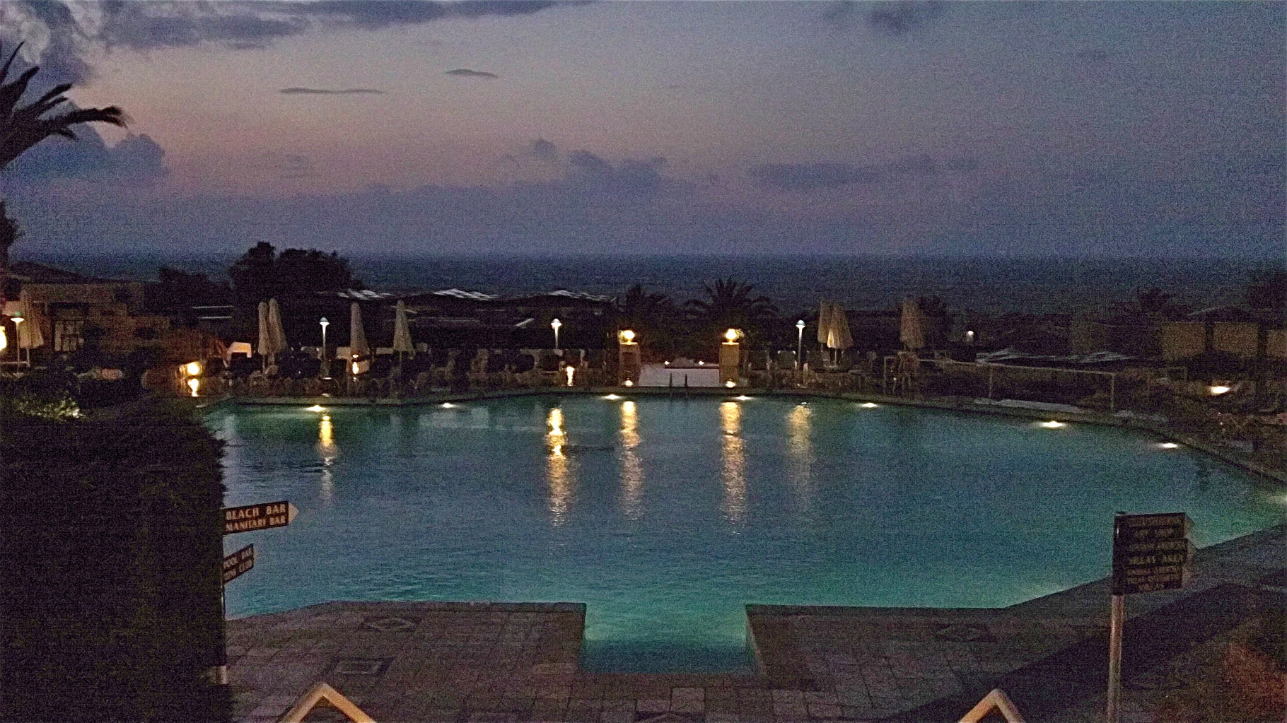 Early evening at the Aldemar Royal Knossos Hotel near Hersonissou, Crete