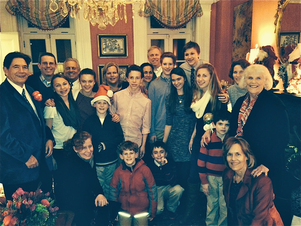 Dec. 20, 2013, Brooklyn. John Wagner, Josh Kagel, Gabby,Stuart Kagel Sr. Kate, Sean, Celeste Gudas, Liam, Allie & Stuart Jr., Noah Kagel, Ellie , Jack, Emma , Lisa , Jane  Kneeling in front:  Julie (Josh's wife); Connor, Stuart III, Sam, & Lorraine Gudas