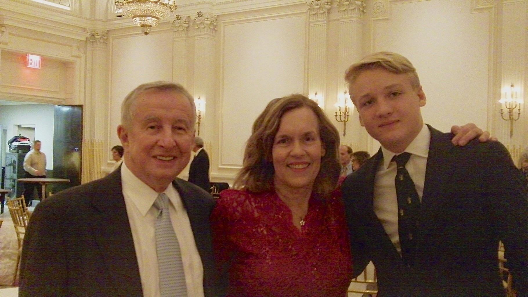 Dr. Gotto, Lorraine Gudas, & Nicholas at the party, Oct. 23, 2015