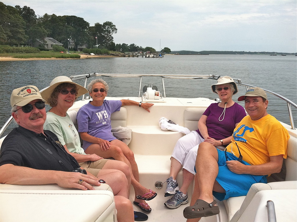 2012;  Butch, Judy Murphy, Kathy Meyer, Chris Powers, John Wagner   Long Island Sound, North Fork