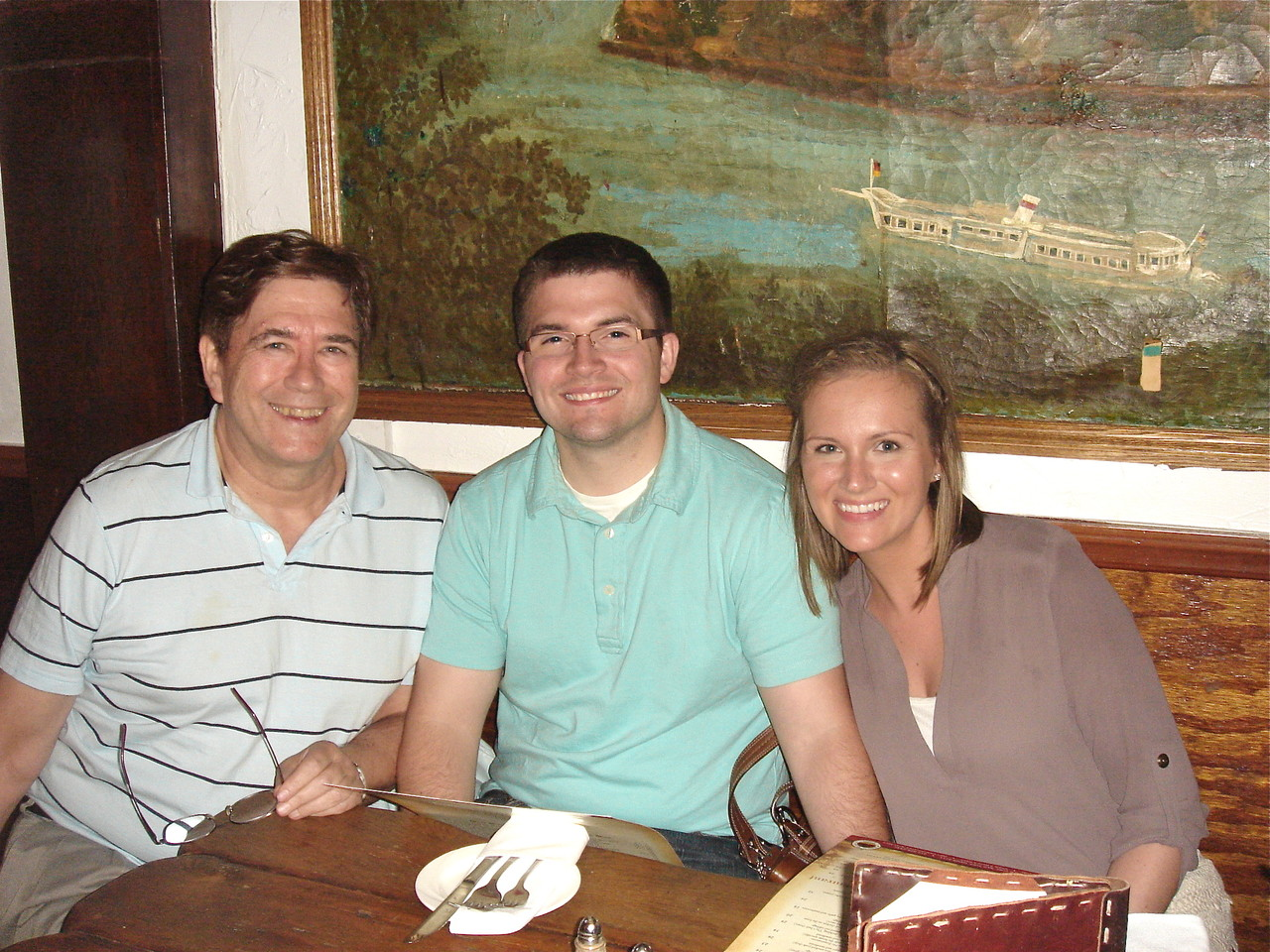 John, Jonathan & Katie at the Heidelberg Restaurant 6-20-2013