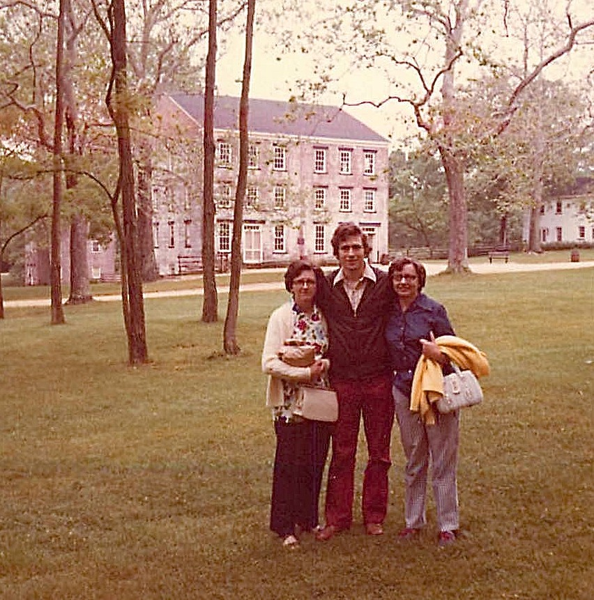 Mary Lou Wagner, John, & Helen Wagner at a historic park in NJ, 1972