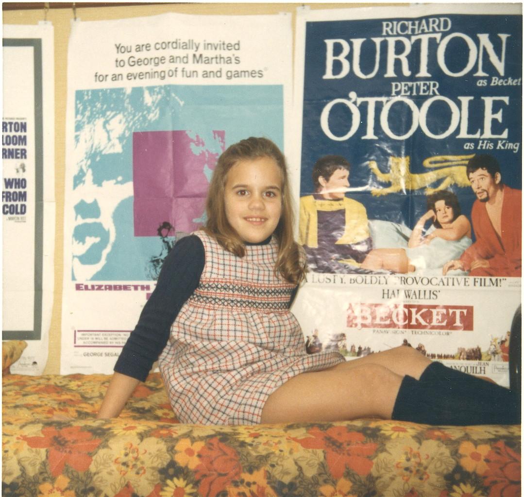 Celeste in Lorraine's dorm room, Smith College, 1967