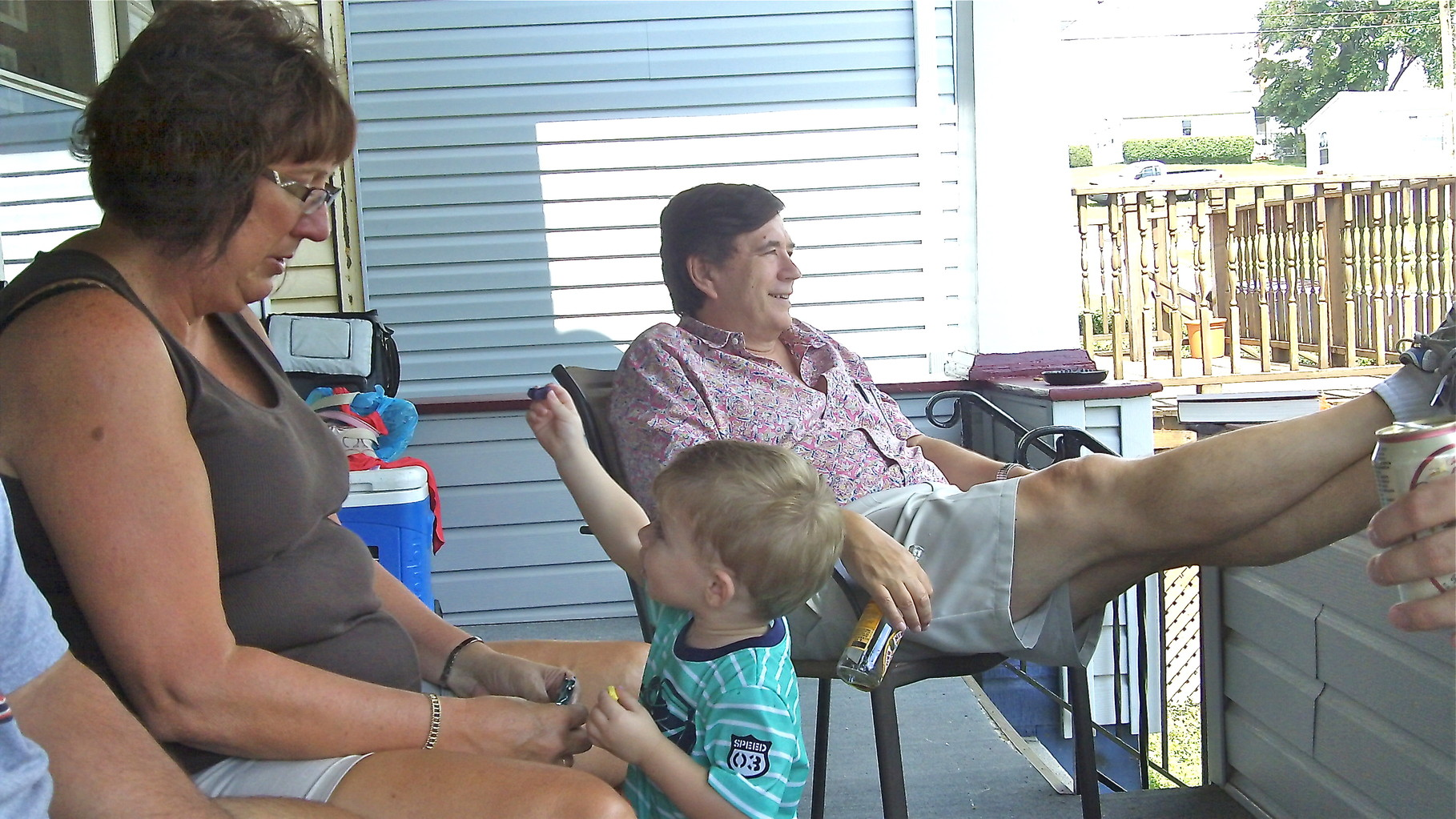 Grandma Jill Wagner, Jaxon Wagner (18 months) & John Wagner