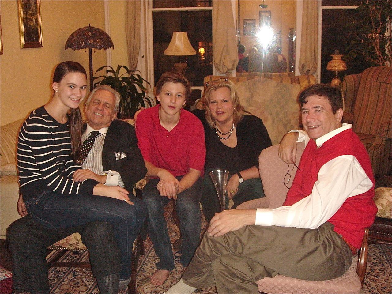 Ellie, Stuart Sr., Jack, Celeste Gudas, & John Wagner, Dec. 23, 2013 Gudas/Wagner Home in Manhattan