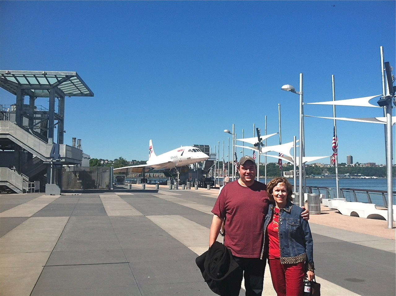 Greg & Lorraine at the Intrepid, NYC, Sept. 2013