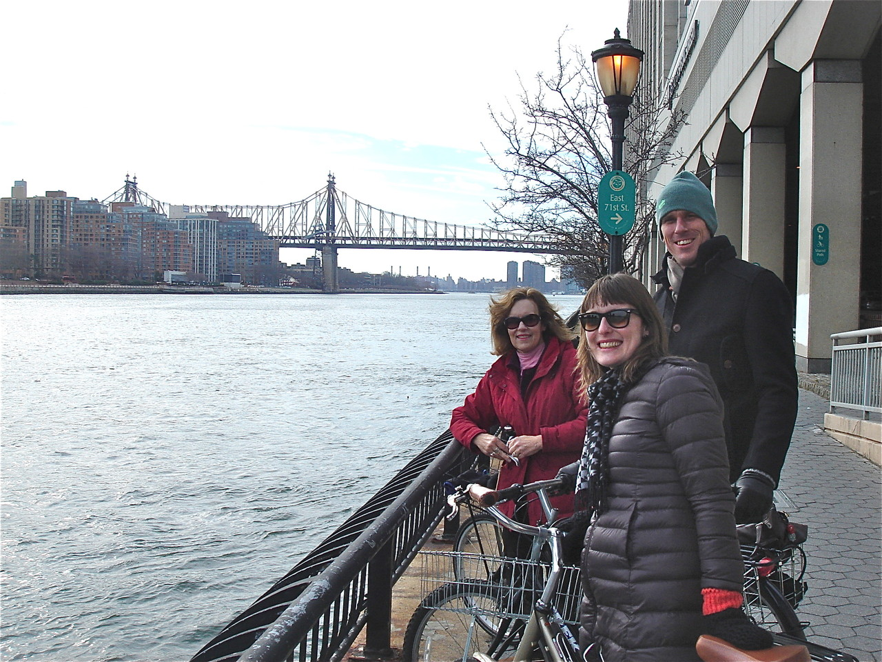 Lorraine, Anna, & Patrick near the 59th St. Bridge, East River, NYC