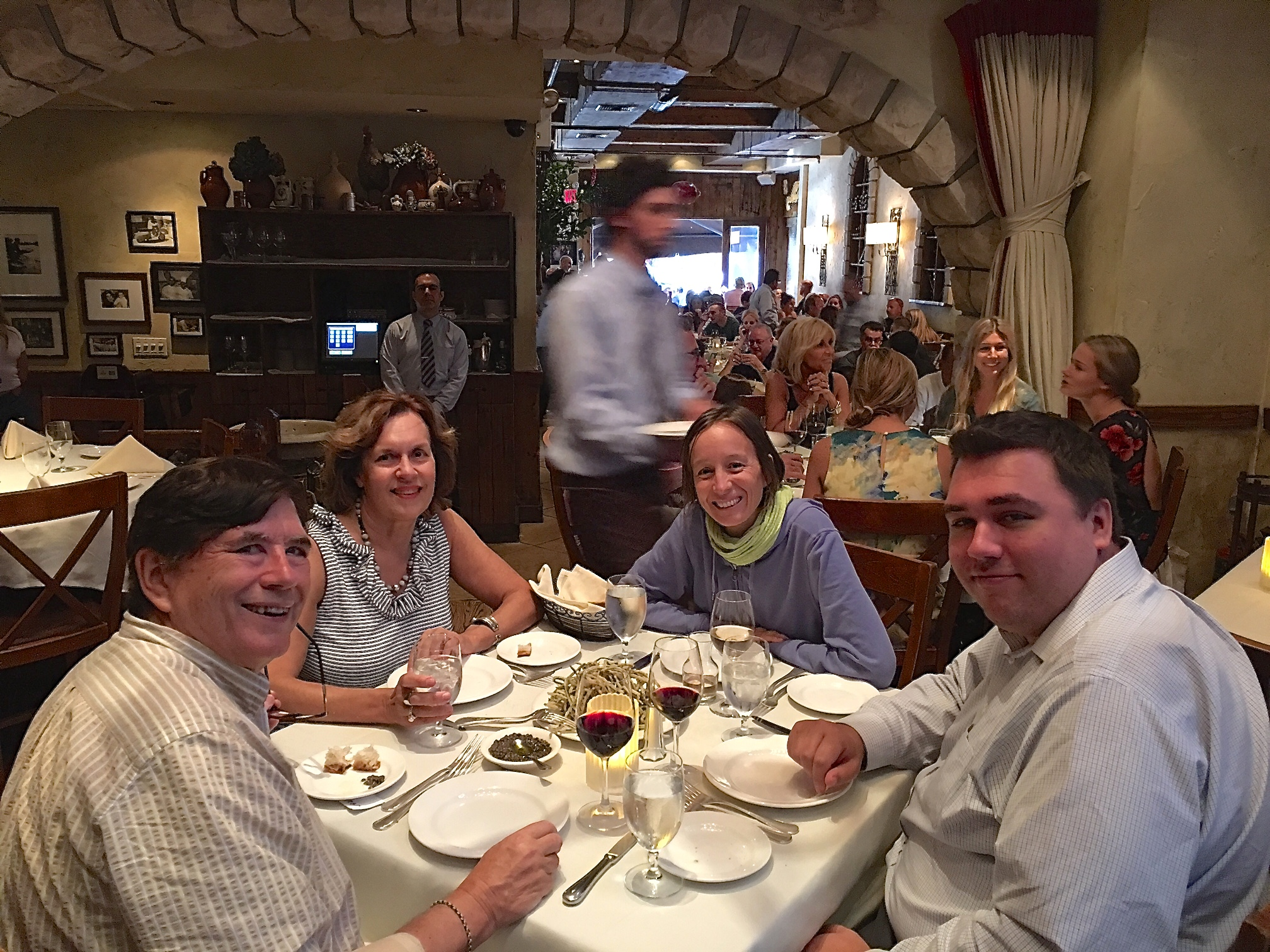 John, Lorraine, Ana from Barcelona, & Greg at La Masseria  August, 2017