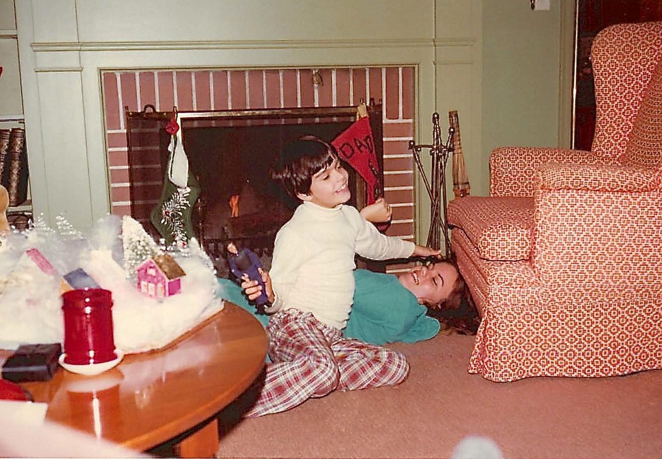 Wayne & Celeste G., Xmas, 1977