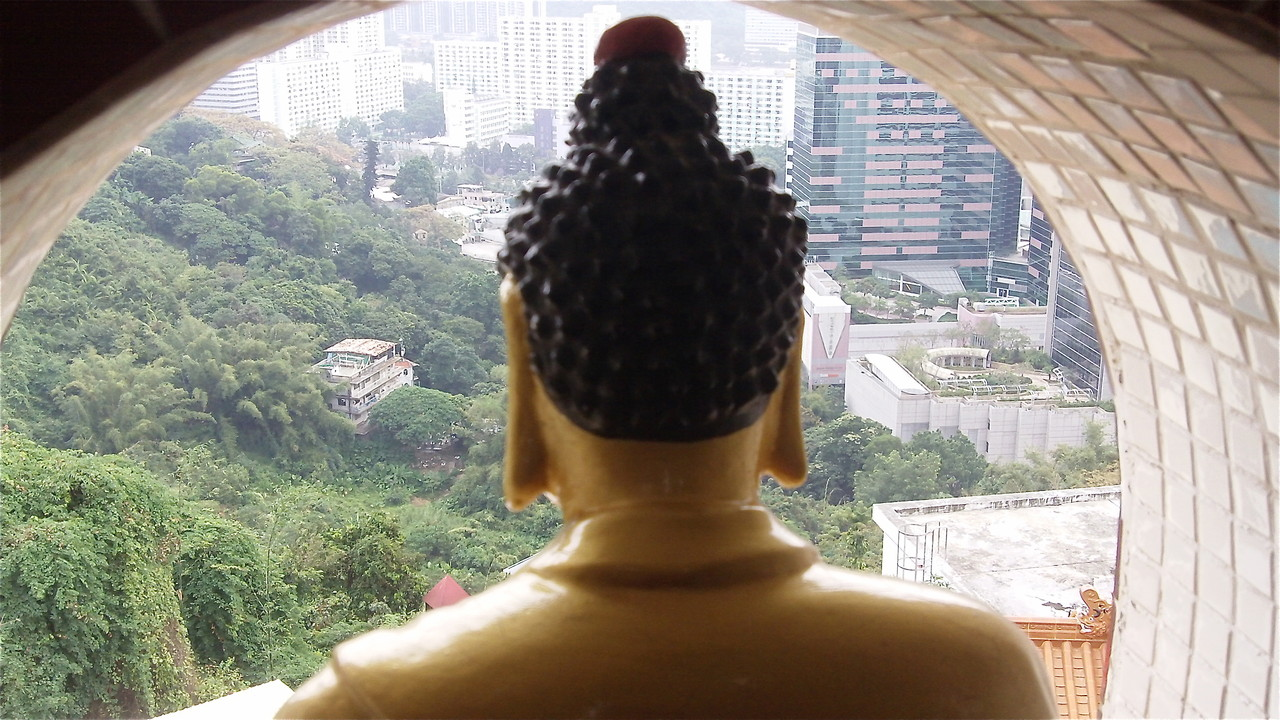 View from the 10,000 Buddhas Monastery