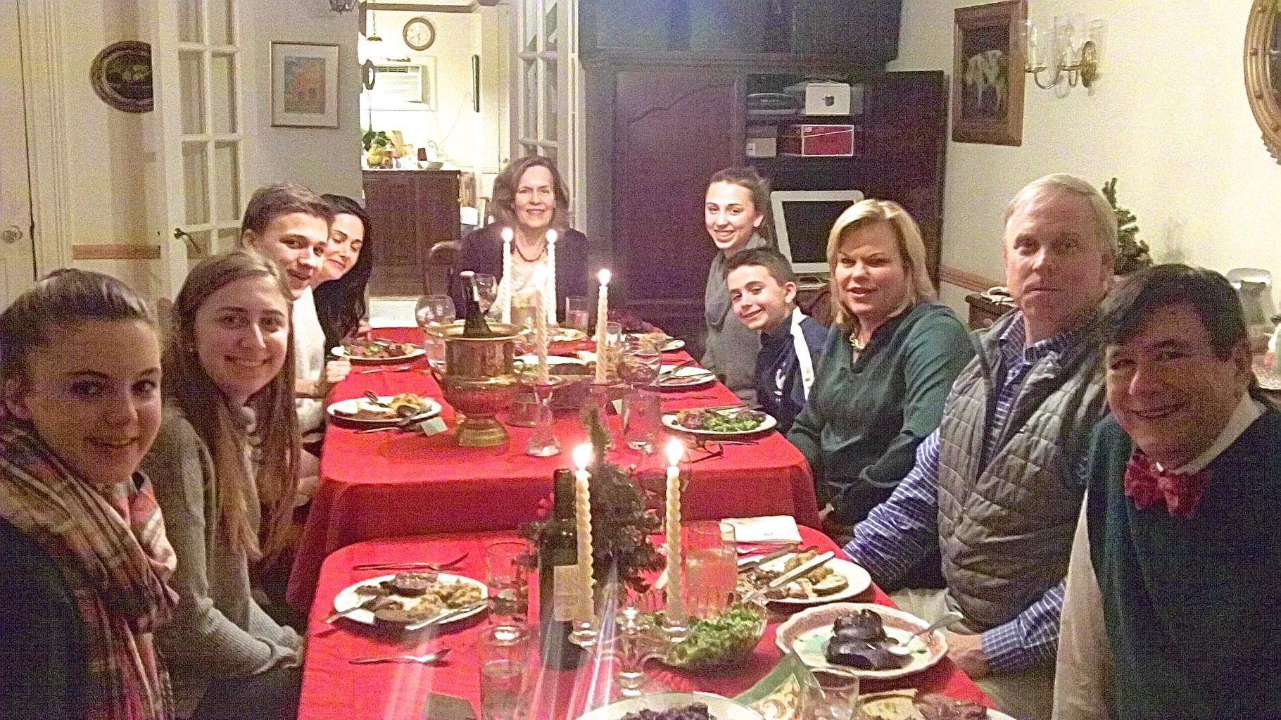 Kate, Emma, Jack, Allie Kagel; Lorraine Gudas; Gabby, Stuart III; Celeste; Stuart Jr., John Wagner