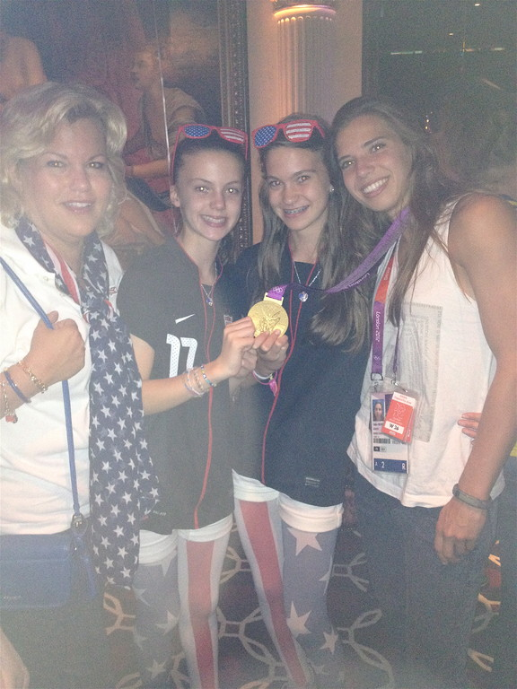 USA wins!  Celeste, Kate, Ellie, Tobin Heath 8-9-2012