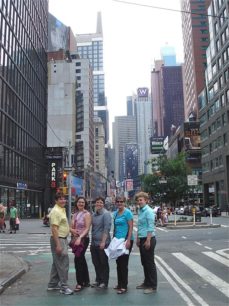 Broadway, NYC   John, Ann, Emilea, Cindy Wagner, & Kathleen