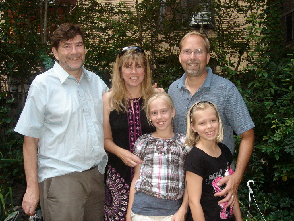 John, Lisa, Brooke, Jerry, Brianna  our backyard NYC