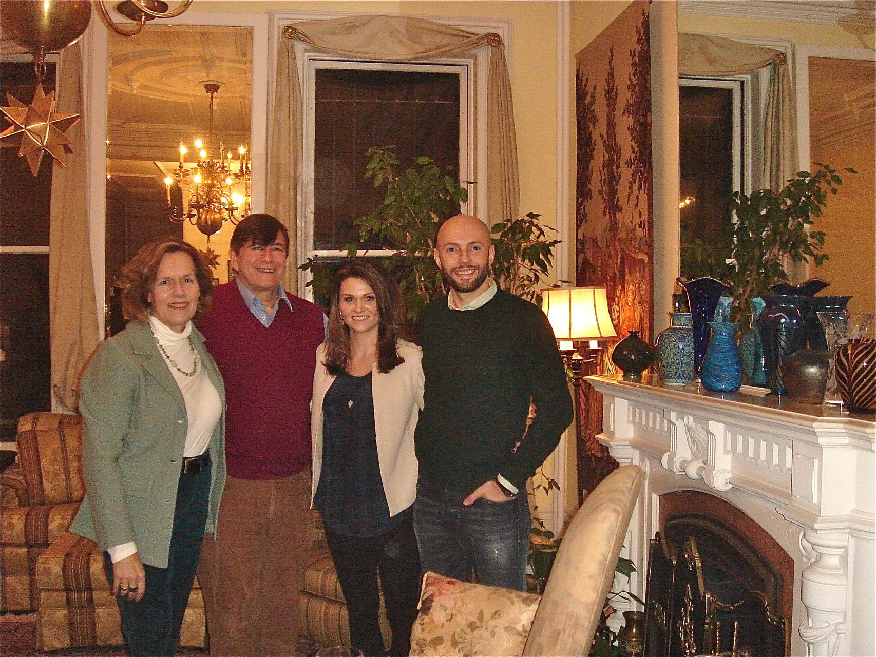 Lorraine, John, Amber, & Mike Gudas (Walt's grandson, cousin David's son) in NYC Feb. 2015