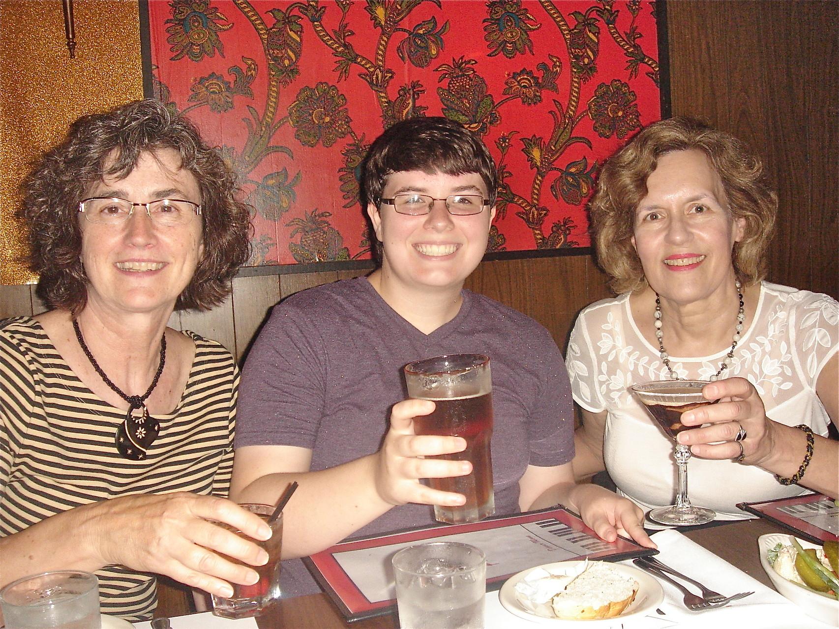 Ann Ackerman, Emilea, & Lorraine Gudas