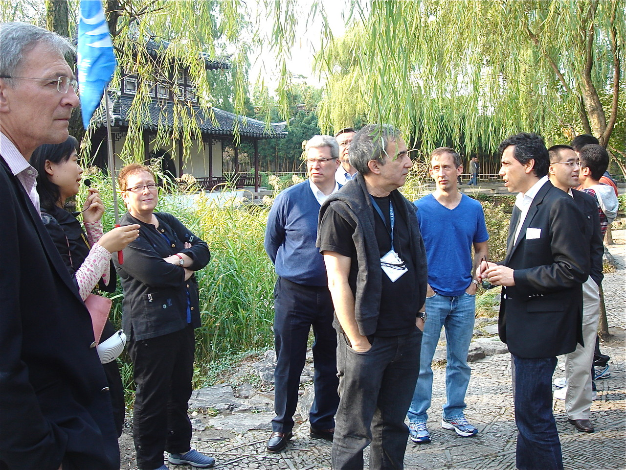 meeting attendees at the Humble Administrator's Garden, China