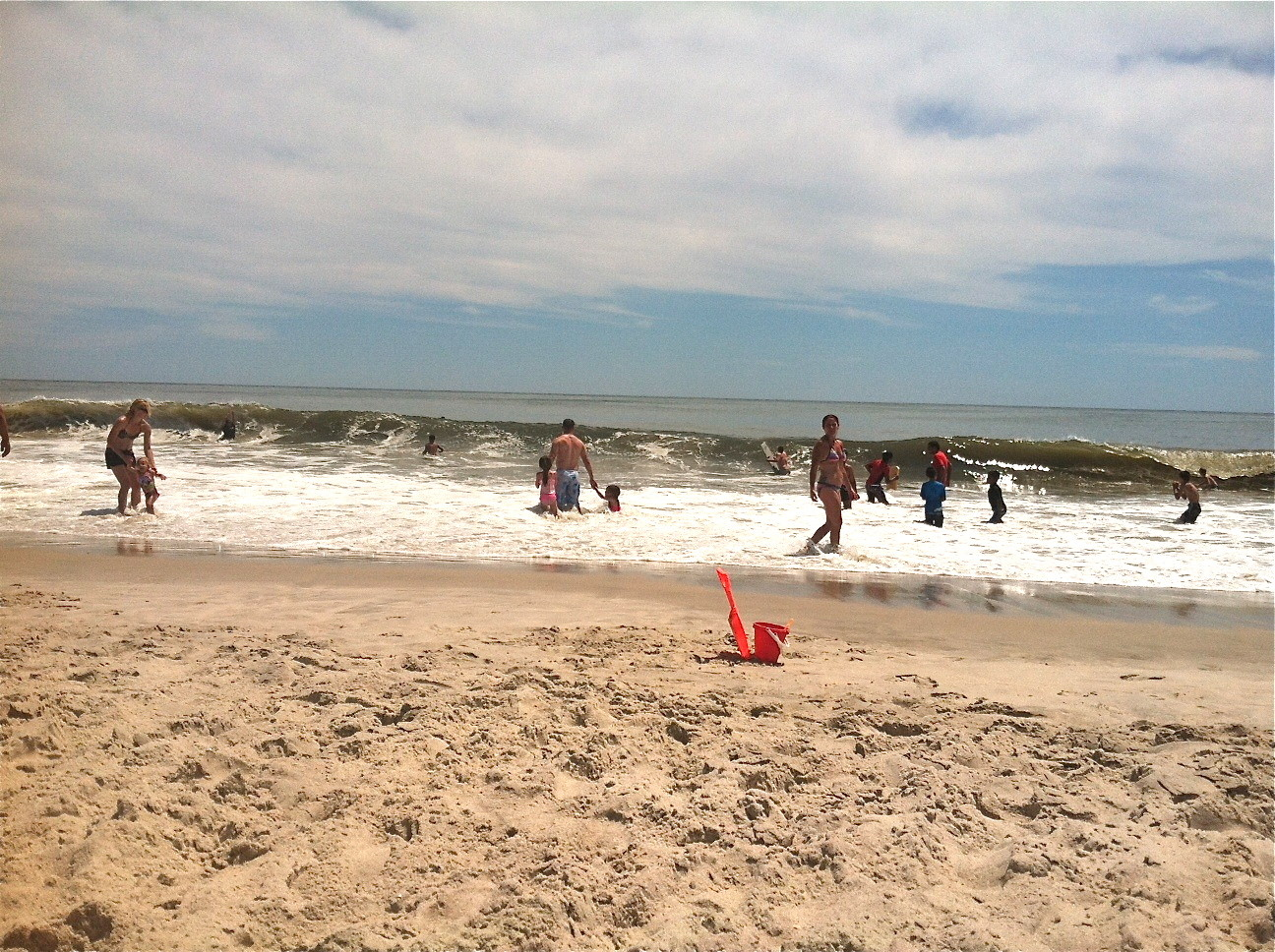 Jones Beach, July 2014  Lorraine & John had a great swim!