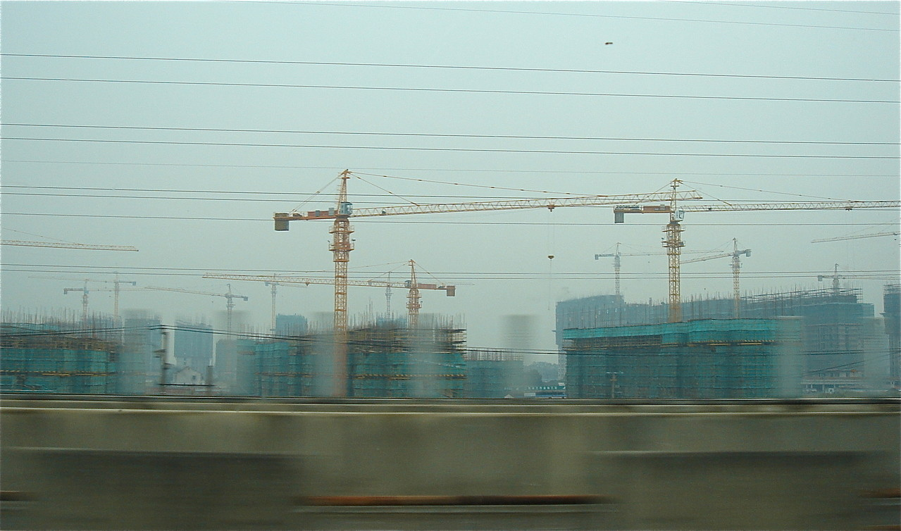 Hundreds of apartment complexes being built in Shanhai, China