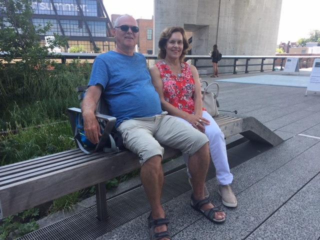 Bernd Groner & Lorraine Gudas, High Line, 7-31-2017