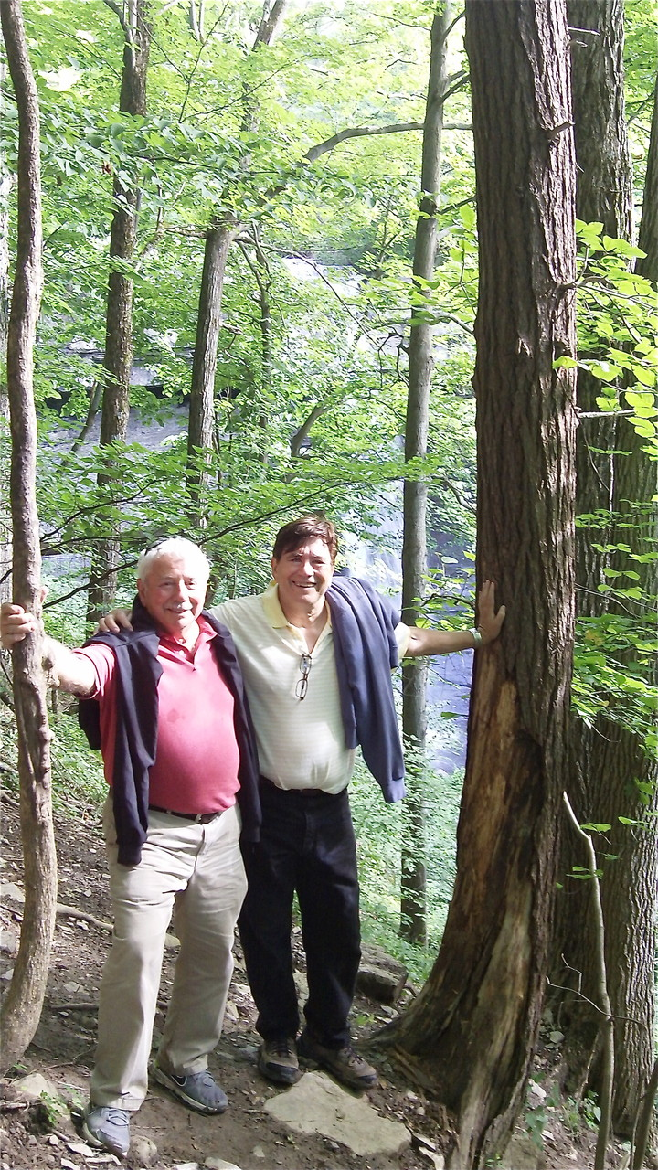 At Carpenter's Falls, Skaneateles, NY  Don Fischman & John Wagner