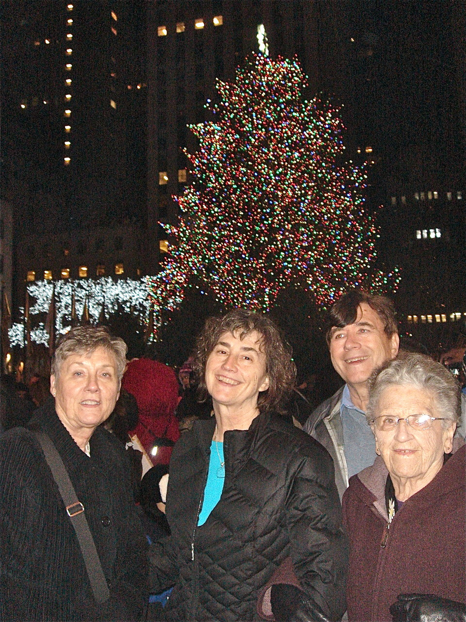 Cindy, Ann, John, & Mary Lou at the Rockefeller Center Xmas Tree  Dec. 27, 2014