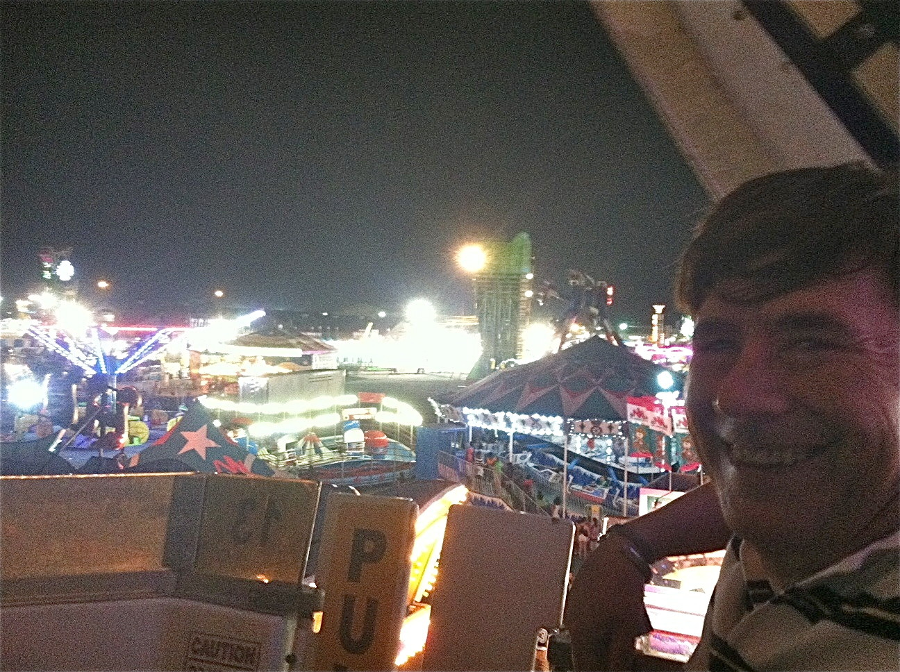 John on the Ferris wheel