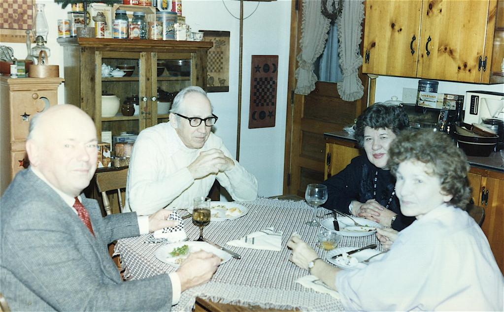 Al, Andy Bednarski, Eleanor, Helen Bednarski about 1985?