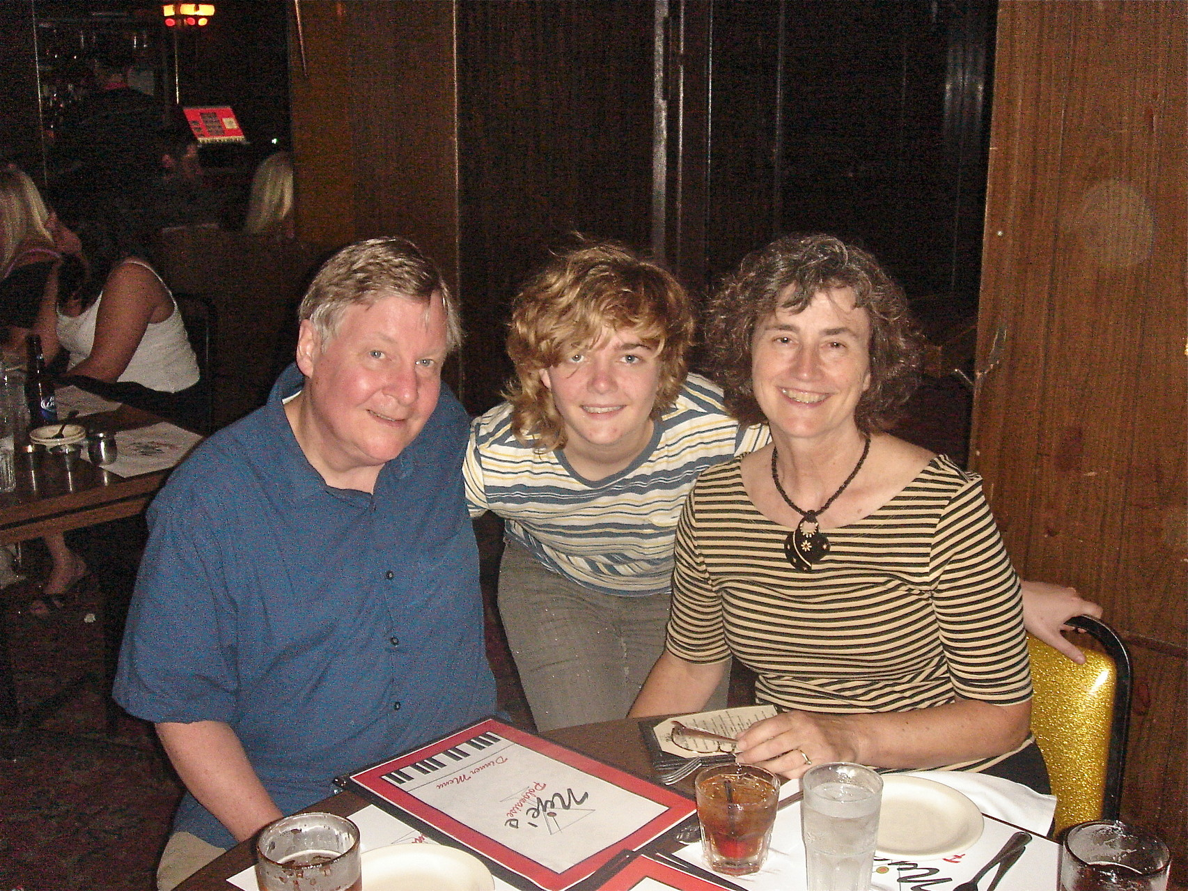 John, Kathleen, & Ann (Wagner) Ackerman; we also celebrated Kathleen's college graduation.