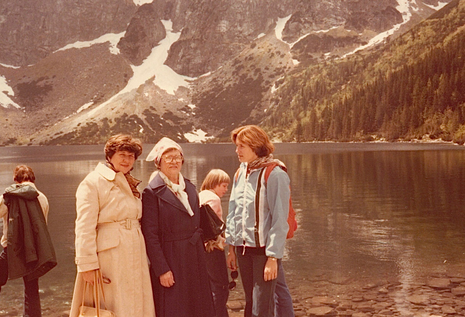 Eleanor, Mayme & Lorraine at Morskie Oko, 1978