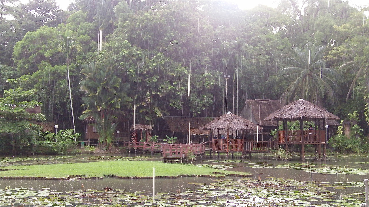 Traditional houses, Borneo