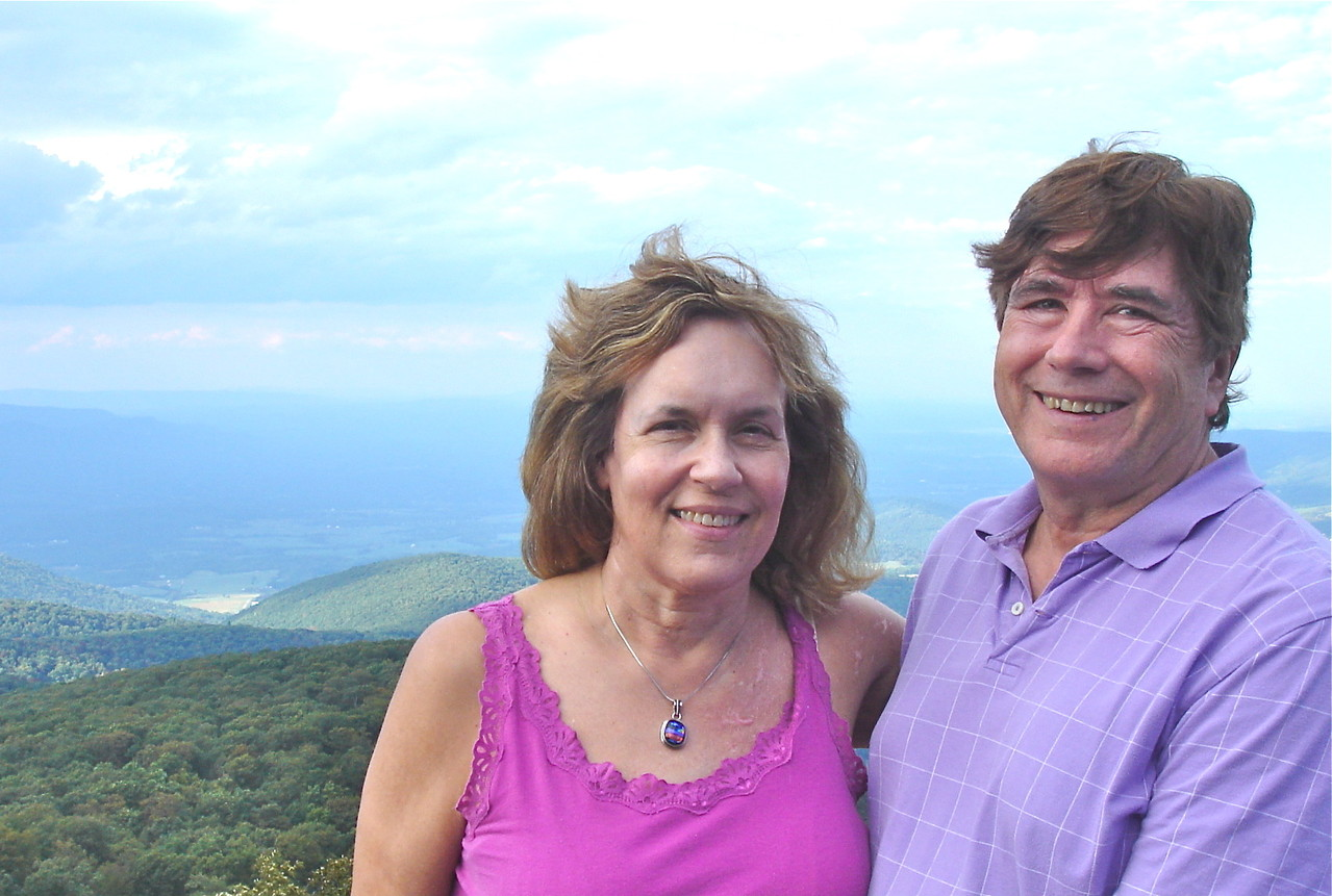 Lorraine & John, overlooking the Shenandoah Valley