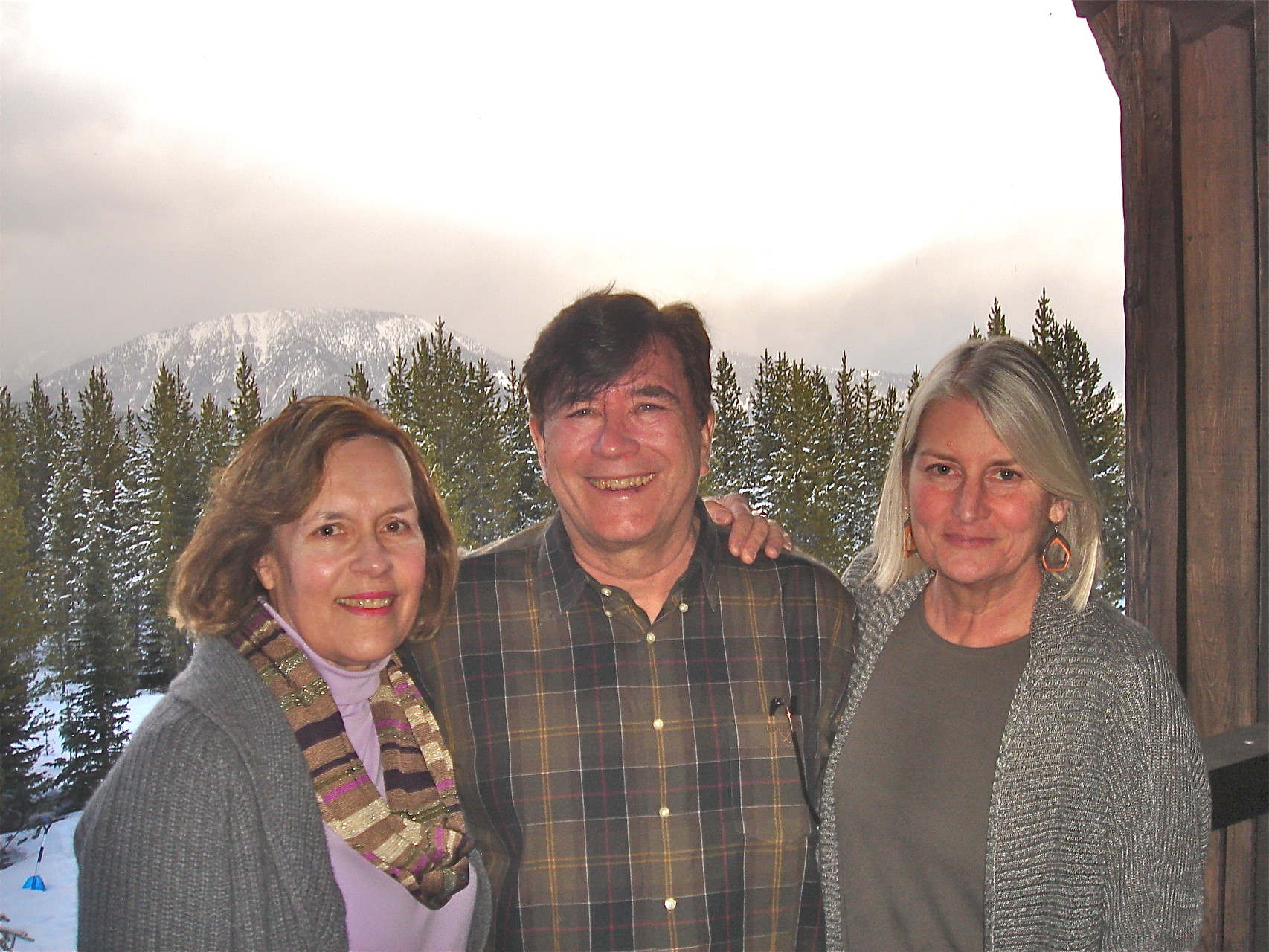 Lorraine, John, and Kathy Schmidt at Big Sky, Montana  March, 2015