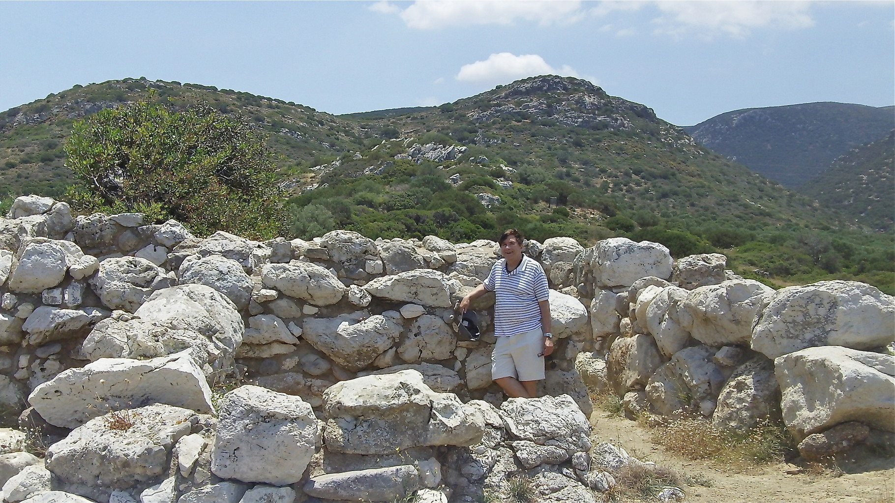 John at the ruins of the ancient Minoan city of Gournia